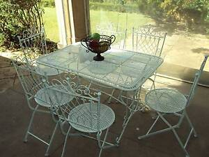 French provincial style seven piece outdoor patio setting Stirling Adelaide Hills Preview