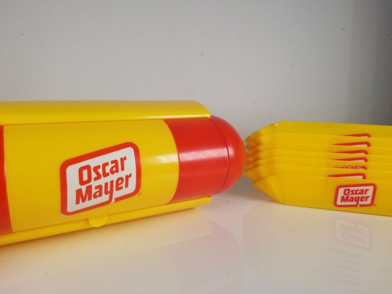 Vintage Oscar Mayer / Meyer Weiner Hot Dog Promotional Condiment Tray w/ 7 trays