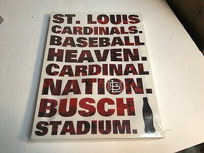"St. Louis Cardinals SGA Baseball Heaven Canvas Wall Hanging Art 9"" x 12"" NEW"