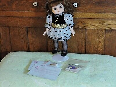 "Adora Belle   15"" Doll with Curly Hair and Poka-dot  Black & White Dress"
