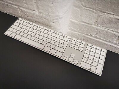 🍎 Apple A1243 USB Wired QWERTY UK Layout Aluminium Keyboard ✔GENUINE ✔Clean
