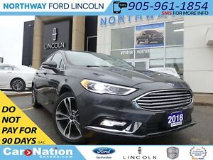 2018 Ford Fusion Titanium |LIKE NEW|NAV|LEATHER|MOON ROOF|REAR C