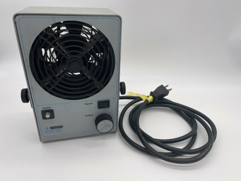 SIMCO IONIZING AIR BLOWER UNIT HEAT W/BRACKET 120VAC AEROSTAT CADET P/N 4005148