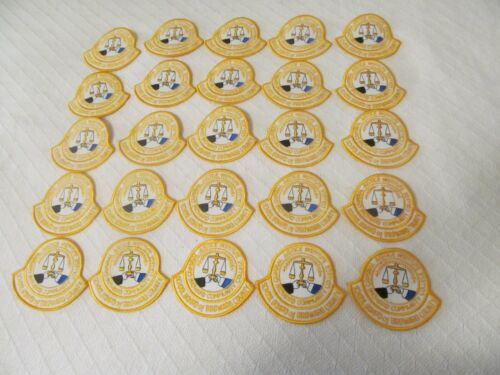 DEALER LOT OF 25 YELLOW BROWARD COUNTY CRIMINAL JUSTICE  PATCHES
