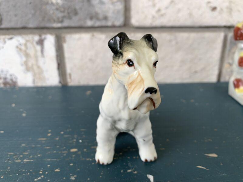 Vintage Porcelain Bone China Fox Terrier Figurine Dog