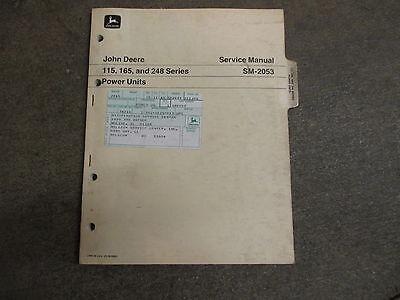 John Deere 115 165 248 Engine Power Unit 4 6 Cylinder Repair Manual