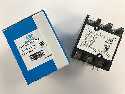 60 Amp 3 Pole 120V HVAC Definite Purpose Replacement Contactor - ALLTEK  comprar usado  Enviando para Brazil