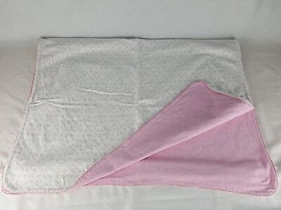 Amy Coe Limited Edition Baby Blanket 100% Cotton Pink White Floral (Amy Coe Baby Blankets)