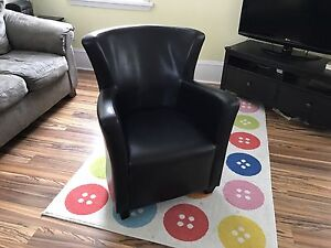 """Leather"" tub chair"