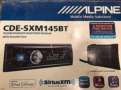 ALPINE CDE-SXM145BT CD / USB / BT / AM/FM RECEIVER