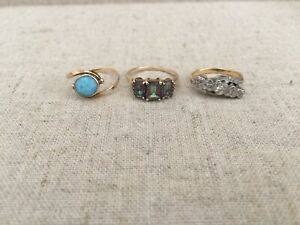 10K and 14K genuine gold rings!