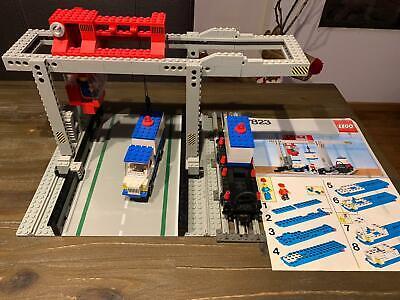 lego 7823 classic Trains 12 volt 12v train Container Crane Depot complete instr.