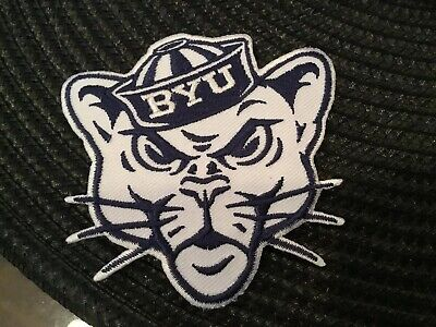 "BYU COUGARS VINTAGE EMBROIDERED IRON ON PATCH 3"" x 3"""