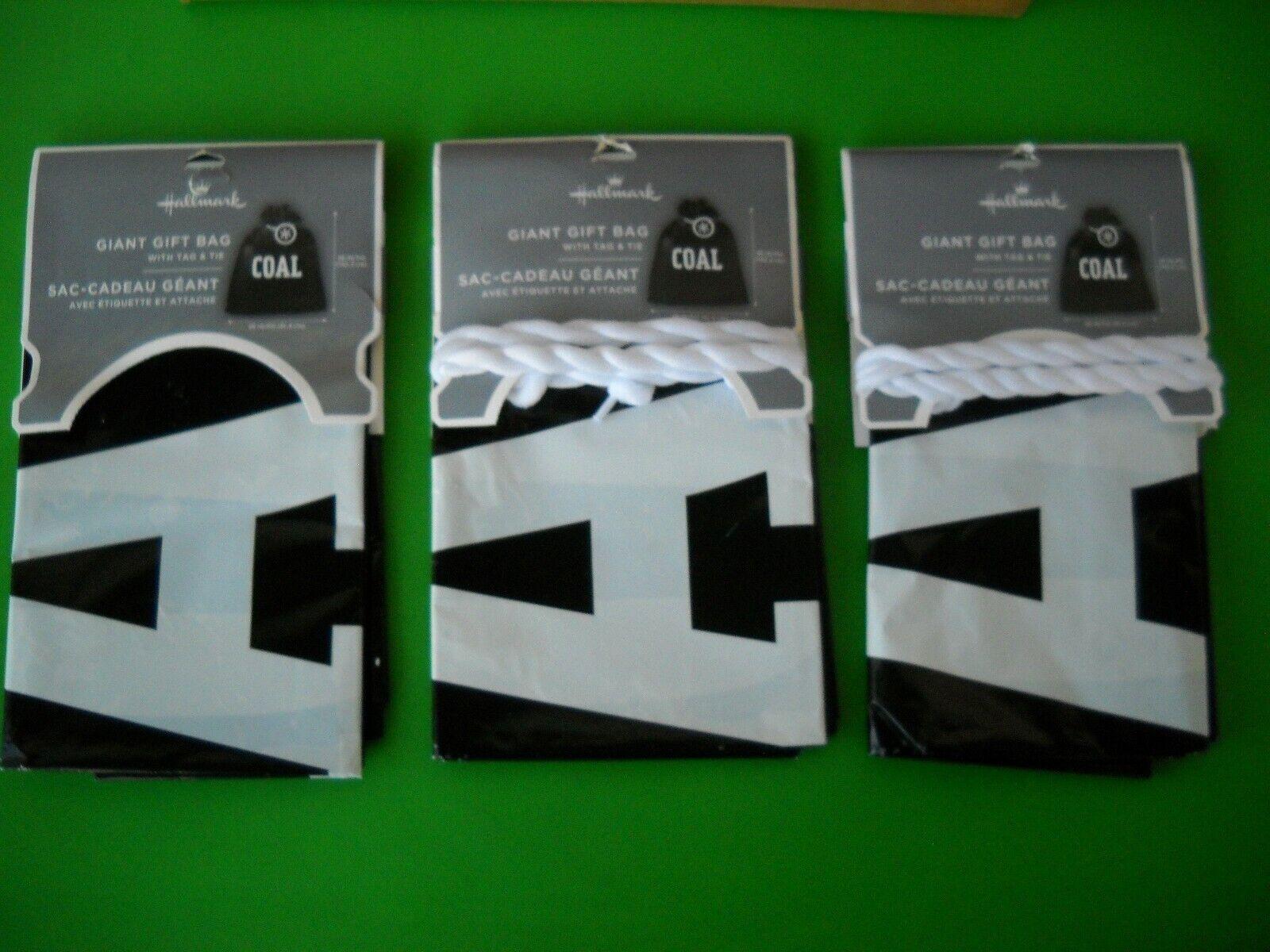3X Hallmark Supersize It Giant Plastic Gift Bag - Christmas