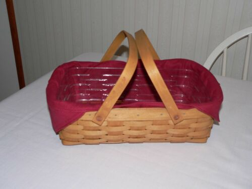 LONGABERGER SMALL OVAL GATHERING OR SMALL GATHERING LINER PAPRIKA NEW