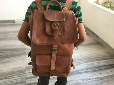 Leather TopShop Best Backpack Rucksack Laptop College Bag Durable Handmade