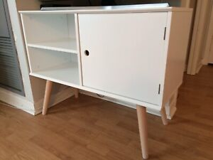 White modern tv console (small condo size)