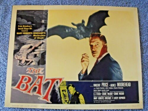 "1959 ""The Bat"" Lobby Card 11 X 14 Vincent Price"