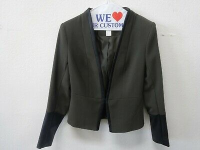 H&M Women's Polyester Blend Long Sleeve Front Hook Blazer 4 (Fit Like Size 2)