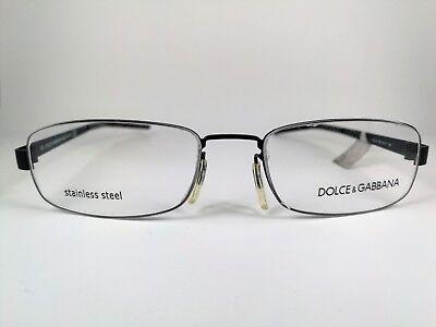 DOLCE & GABBANA Brille DG614BR Square Stainless Steel Frame Eyeglasses Occhiali