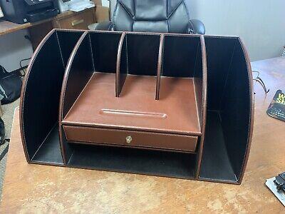 Levenger Leather Unifier Desk Organizer Beautiful Condition