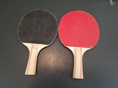 1 or4x Rubber Pips-in Table Tennis Racket Sponge Fit Ping Pong Paddle Red// Black