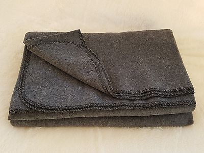 Winter Warm Wool Military Camping Utility Emergency Blanket 62 x 80 3.5 lbs