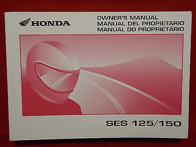GENUINE 2002 2003 HONDA DYLAN 125 OWNERS MANUAL 37KPZB10 SES125 SES150 SES 150