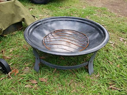 Large 74cm wide dish brazier