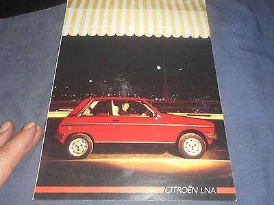 1986 Citroen LNA French Market Brochure Catalog Prospekt