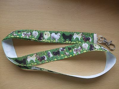 Handmade Norwegian Elkhound Dogs Lanyard Whistle Walking Training Puppy ID Key