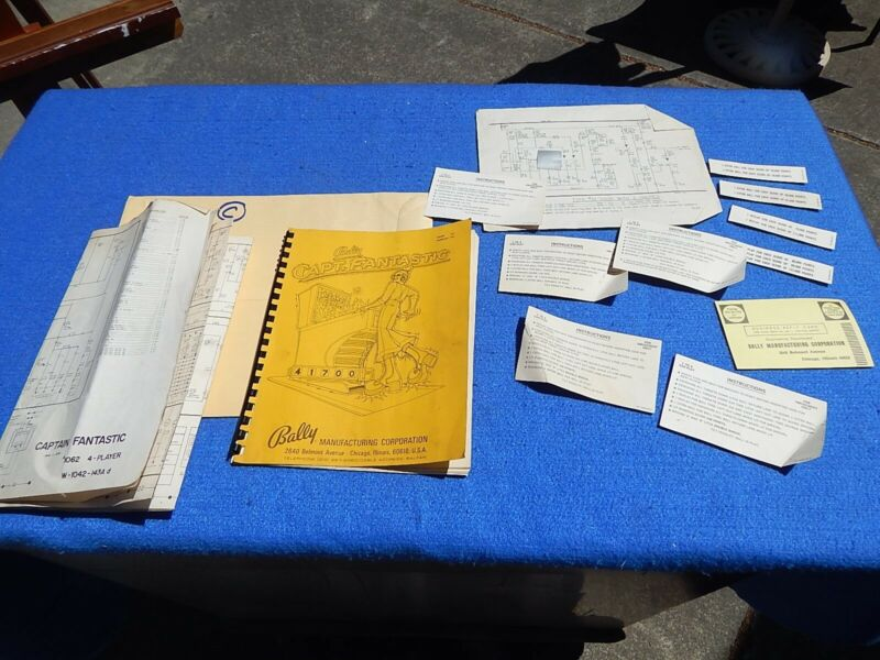 1976 Bally CAPTAIN FANTASTIC user manual & schematics package