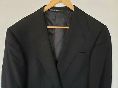 Versace Classic V2 Mens 42R Black Wool 1 Button Blazer Jacket Sport Coat Regular
