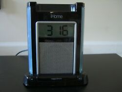 iHome iH4B Alarm Clock Speaker System w/Audio Jack & iPod/iPhone Dock-Excellent!