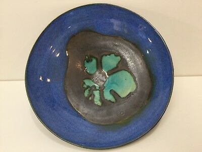 "Vintage Japanese Art Pottery Bowl, Signed, 9 1/2"" Diameter x 3"" High"