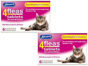 Johnsons 4Fleas Tablets For Cats & Kittens