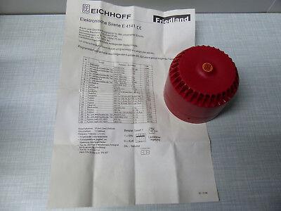 Sirene Friedland Alarmanlage E4141 26 Tonarten Feuermelder  Neu im Original Kar