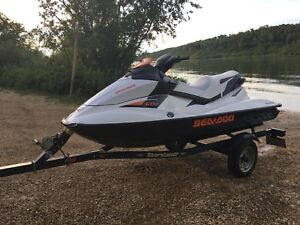 2010 seadoo gti130 3 seater with trailer
