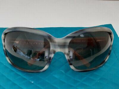 John Richmond Designer Sunglasses. Grey Colour With Stripe Pattern.VGC