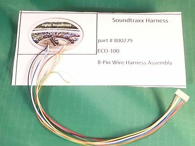 100 Eco Wire (Soundtraxx Harness, #800279 ECO-100 8-Pin Wire Harness Assembly  )