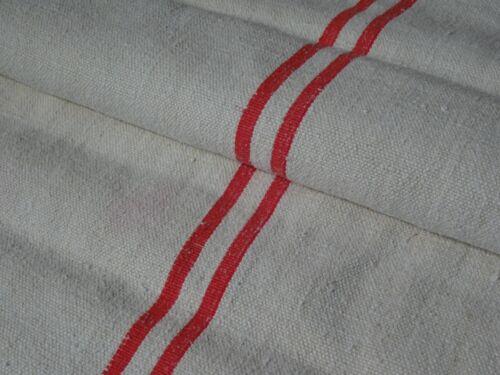 Antique European Feed Sack GRAIN SACK Red Stripe # 9630