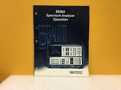 Hp Agilent 08568-90002 8568a Spectrum Analyzer Operation