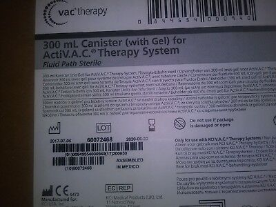 - KCI 300mL Canisters (with GEL) dor VAC THERAPY M8275058/BOX OF 5