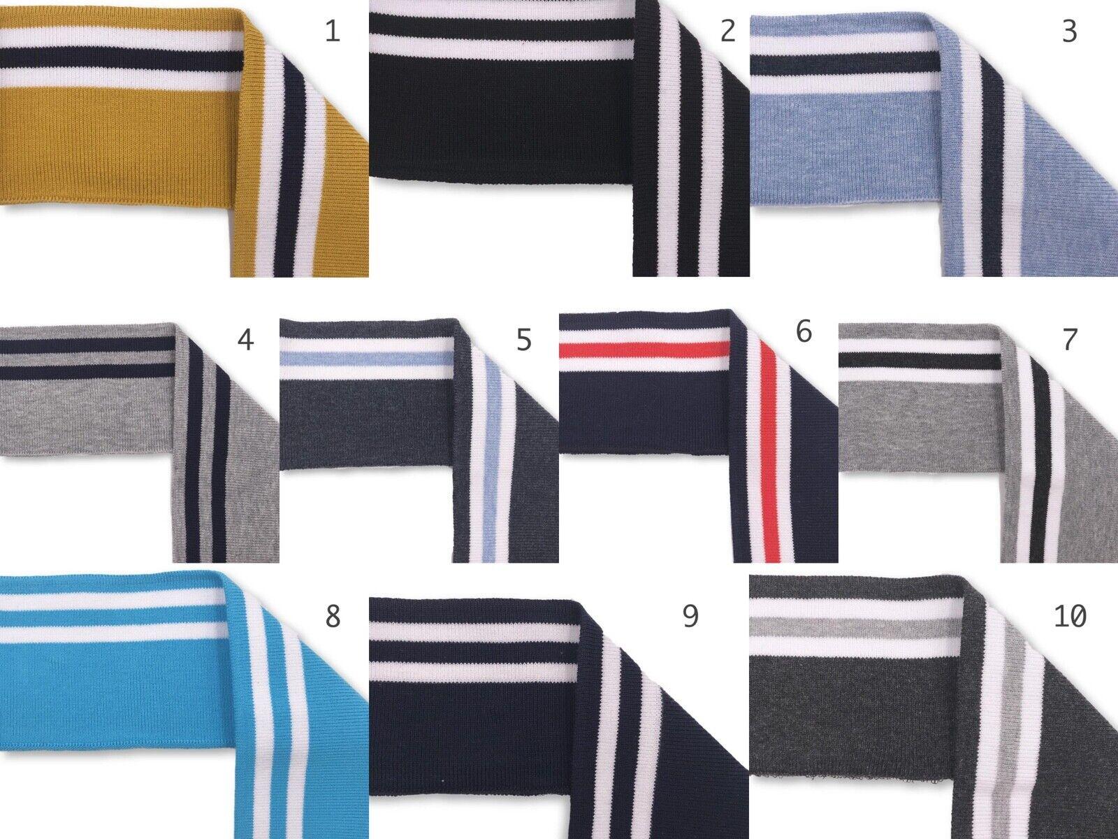 Bündchen Boord Cuff Streifen Öko TEX 10 Farben