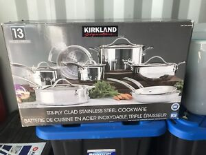 Kirkland Signature 13-pc. Tri-ply Stainless-steel Cookware Set