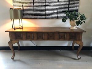 Solid Teak Console side table