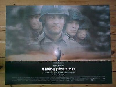 SAVING PRIVATE RYAN - TOM HANKS STEVEN SPIELBERG - Original UK Quad Poster D/S