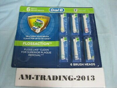 Oral-B FlossAction Electric Toothbrush Replacement - 6 Brush Heads - -