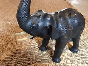 Leather Elephant home decoration  Kitchener / Waterloo Kitchener Area image 1