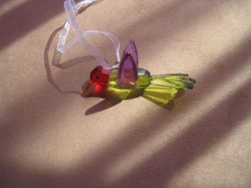 Crystal Hummingbird Suncatcher Ornament